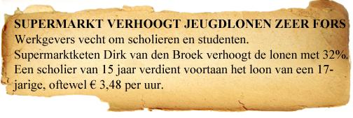 EC KGT34 Consumeren Jongeren Krant - Salaris Dirk Van Den Broek 15 Jaar
