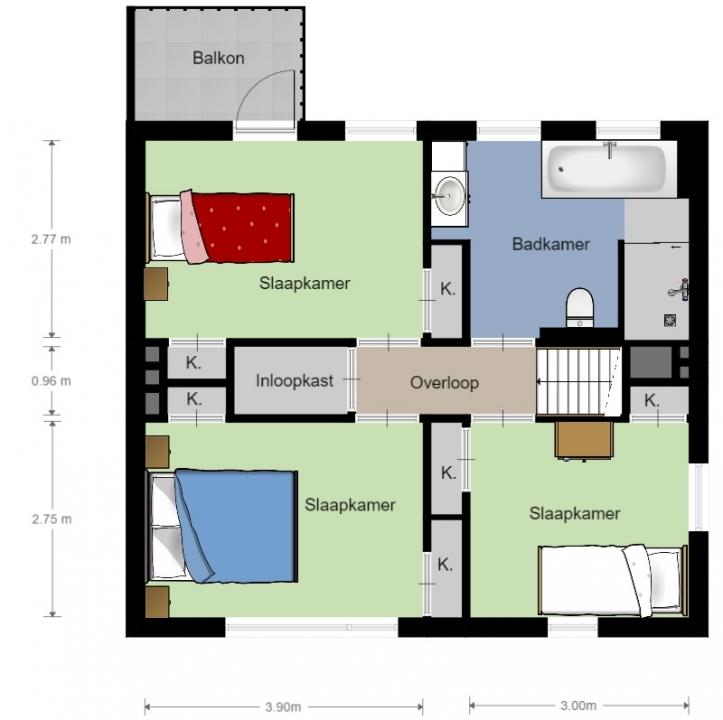 Rekenen mbo bouw lesmateriaal wikiwijs for Plattegrond van je huis maken