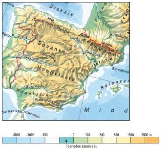 natuurkundige kaart Atlasvaardigheden basisbosatlas mavo   Lesmateriaal   Wikiwijs